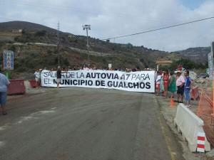 Huelga salida autovía Gualchos